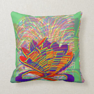 Exotic LOTUS and Grass Bushes on background Pillows