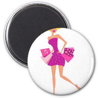 EXOTIC MODEL GIRL Creative t-shirts 2 Inch Round Magnet