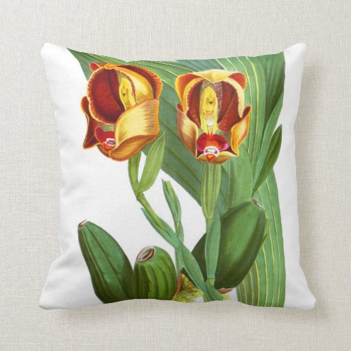 Exotic Orchid Flower no.1 Tropical Plant Decor Pillow