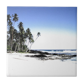 Exotic Palm Trees & Paradise Beach Tiles
