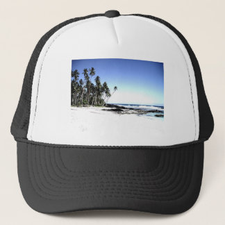 Exotic Palm Trees & Paradise Beach Trucker Hat