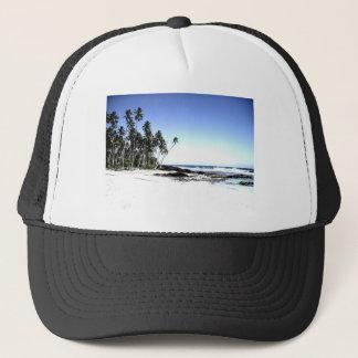 Exotic Palm Trees & Paradise Beach Trucker Hat