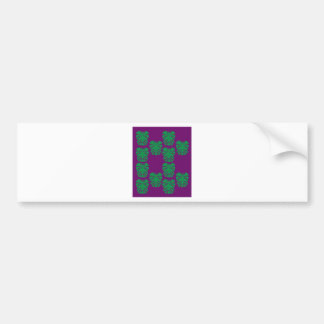 Exotic palms green on purple bumper sticker