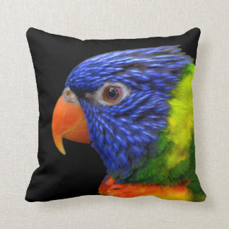 Exotic Parrot Blue Green Orange Throw Pillow
