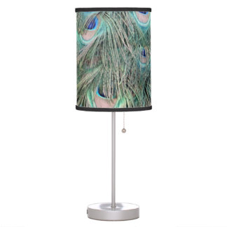 Exotic Peafowl Ruffled Feathers Table Lamp