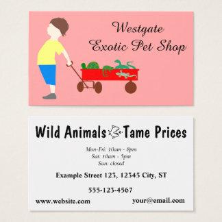 Exotic Pet Store - Pet Shop Business Card