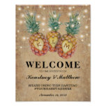Exotic Pineapple Tropical Wedding Reception Poster