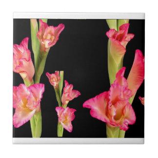 Exotic Pink Flower Bouquet Floral Elegant Gifts Tiles
