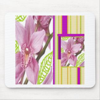 Exotic pink flowers mouse pad