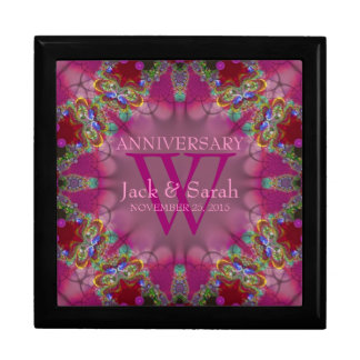 Exotic Pink Fractal Lace Anniversary Gift Box