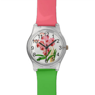 Exotic Pink Orchids Watch