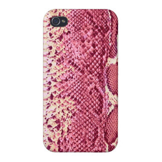 Exotic Pink Snake Skin #4 iPhone 4 Cases