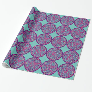 Exotic Purple Fractal mandala starfish ornament