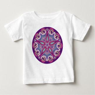 Exotic Purple Fractal mandala starfish ornament Baby T-Shirt