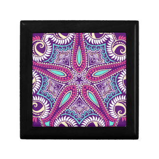 Exotic Purple Fractal mandala starfish ornament Gift Box