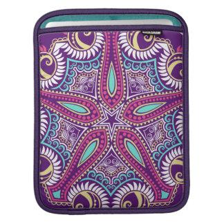 Exotic Purple Fractal mandala starfish ornament iPad Sleeve