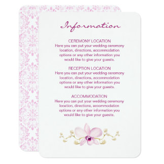 Exotic Purple Orchid Watercolor Information Cards