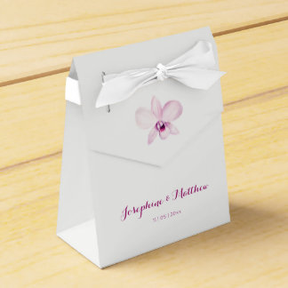 Exotic Purple Orchid Wedding Favor Box