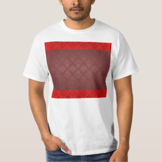 Exotic Red and Black damask wedding gift Tee Shirt