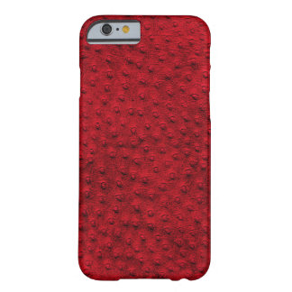 Exotic Red Ostrich Leather iPhone 6 Case