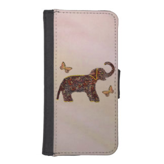 Exotic Rose Elephant iPhone SE/5/5s Wallet Case