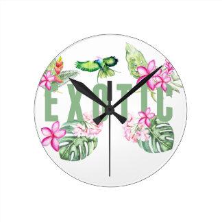Exotic Round Clock