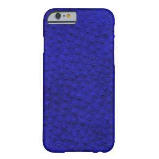 Exotic Royal Blue Ostrich Leather iPhone 6 Case