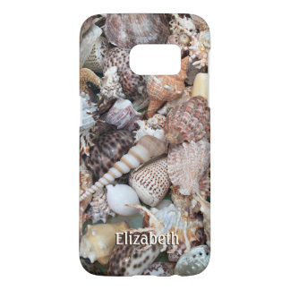 Exotic Seashell Personalized Samsung Galaxy S7 Case
