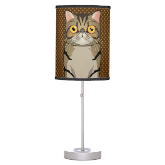 Exotic Shorthair Cat Cartoon Paws Desk Lamps