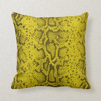 Exotic Snakeskin Pattern | yellow Throw Pillow