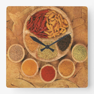 Exotic spices clock