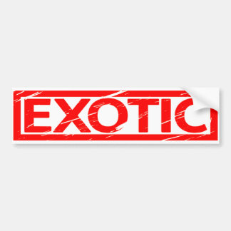 Exotic Stamp Bumper Sticker
