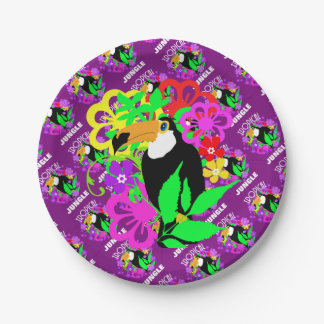 Exotic Toucan Bird Cute Tropical Animal Colorful Paper Plate