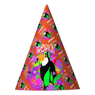 Exotic Toucan Bird Cute Tropical Animal Colorful Party Hat
