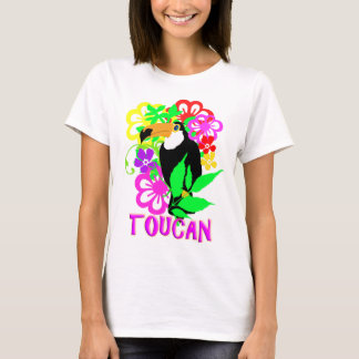 Exotic Toucan Bird Cute Tropical Animal Colorful T-Shirt