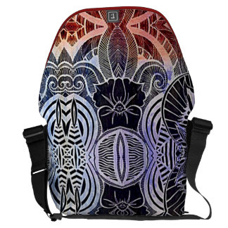 Exotic tribal abstract lifestyle laptop bag commuter bag