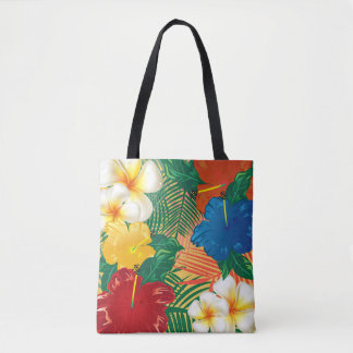 Exotic Tropical Flower Design Tote Bag