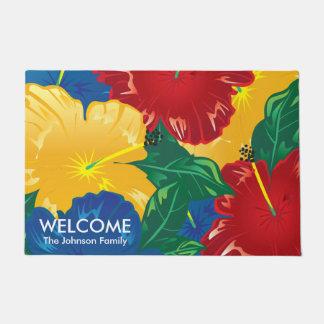 Exotic Tropical Hibiscus Doormat