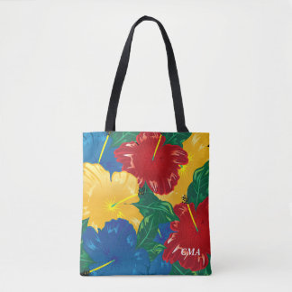 Exotic Tropical Hibiscus Tote Bag