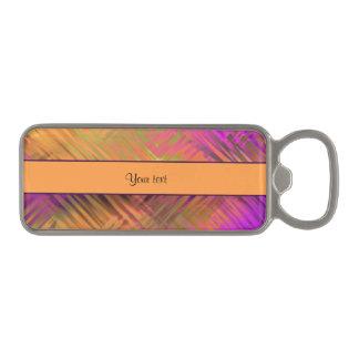 Exotic Tropical Purple Magnetic Bottle Opener