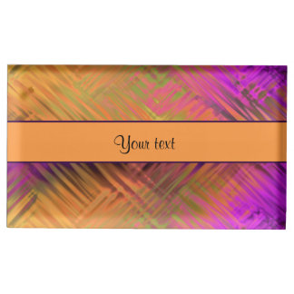 Exotic Tropical Purple Table Card Holder