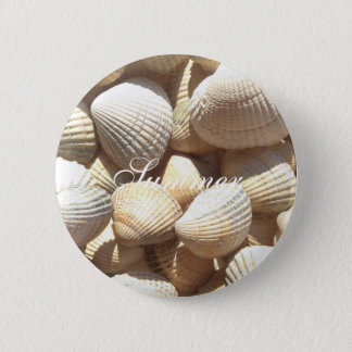 Exotic Tropical Sea Shell Summer Beach Photography 2 Inch Round Button