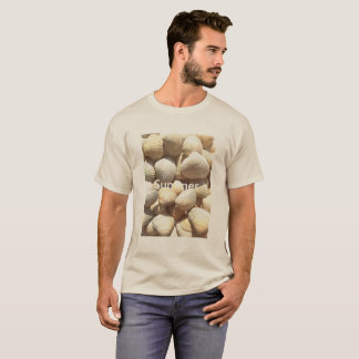 Exotic Tropical Sea Shell Summer Beach Photography T-Shirt