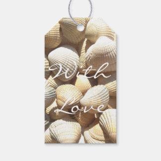 Exotic Tropical Sea Shells Summer Beach Theme Gift Tags