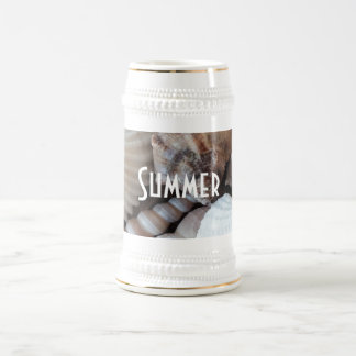 Exotic Tropical Summer Sea Shells Photography Beer Stein