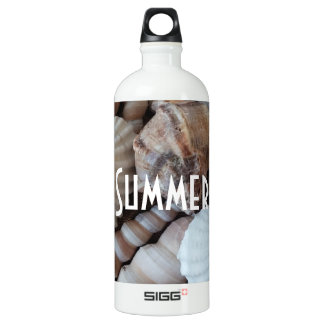 Exotic Tropical Summer Sea Shells Photography Water Bottle