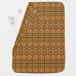Exotic Vintage Autumn Colors Brown Green Yellow Baby Blanket