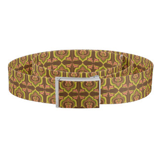 Exotic Vintage Autumn Colors Brown Green Yellow Belt