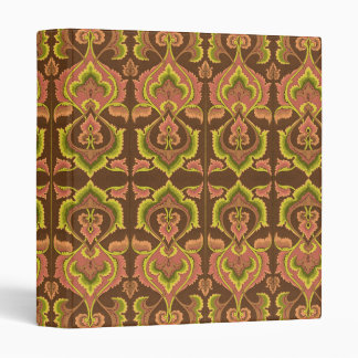 Exotic Vintage Autumn Colors Brown Green Yellow Binder