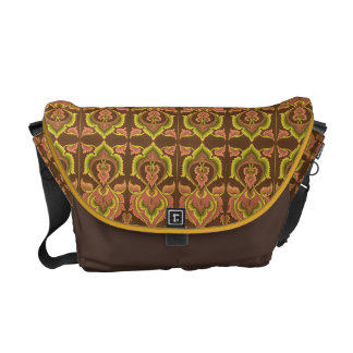 Exotic Vintage Autumn Colors Brown Green Yellow Messenger Bag